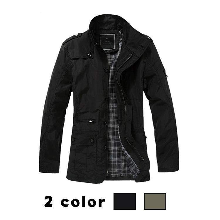 アウター ミドル丈 コート ジャケット トレンチコート風 防寒 長袖 無地 シンプル 大きいサイズ カジュアル