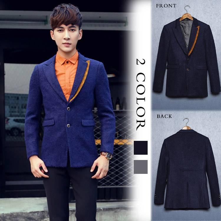 テーラードジャケット スーツ 折襟 長袖 無地 二つボタン フォーマル ビジネススーツ ラシャツ リクルート 就活 紳士服