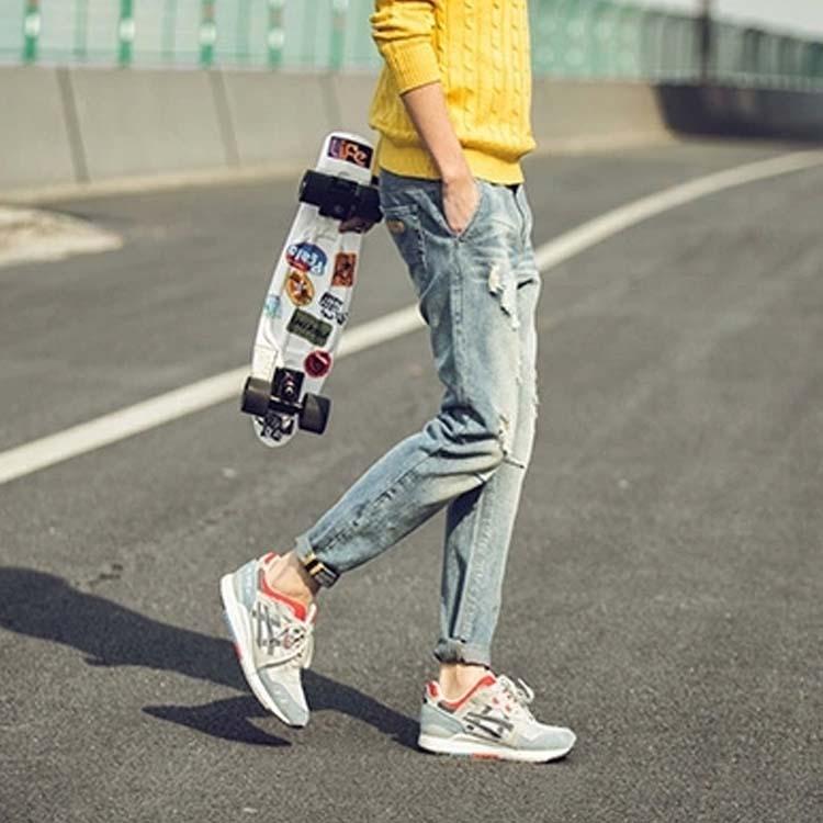 ヴィンテージ加工 ジーパン メンズ デニムパンツ デニム ロングパンツ ジーンズ テーパードパンツ クロップドパンツ イージーパンツ メンズ