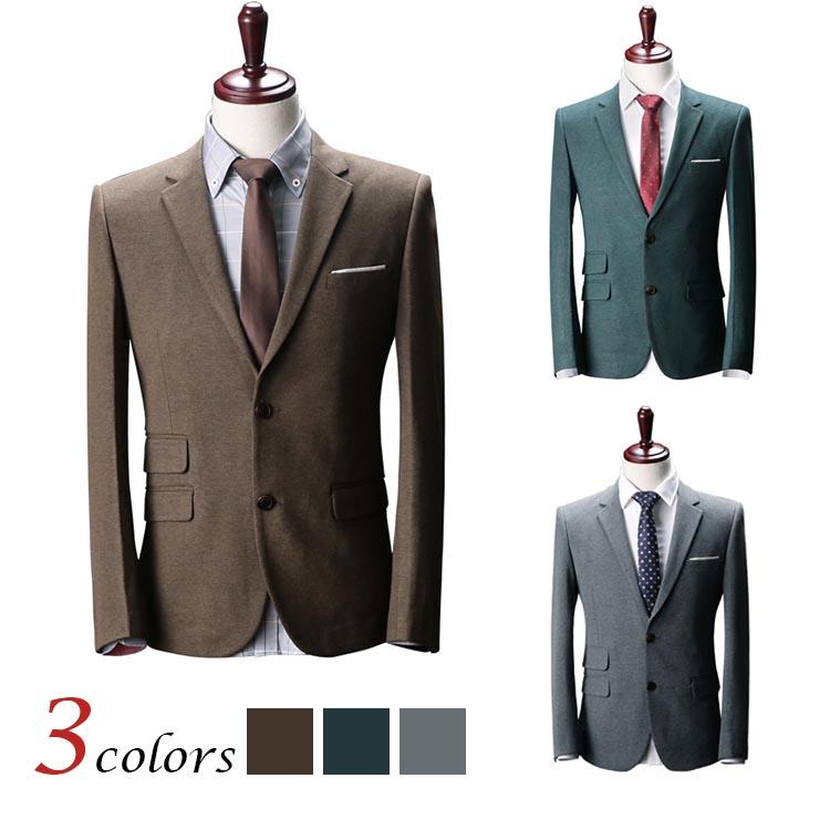 アウター スート テーラードジャケット 無地 二つボタン 長袖 メンズファション トップス スーツ フォーマル スリム 上品 ビジネススーツ