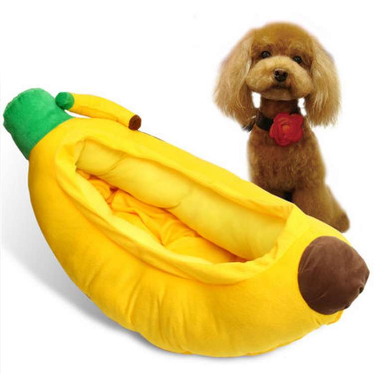 癒しのバナナ ベッド ネコベッド 犬ベッド ケージ カドラー 犬 ドームベッド ネコ ドームベッド カドラ クッション付 マット ネコ用・小型犬用 7.5kg体重以下対応 チワワ・トイプードル用