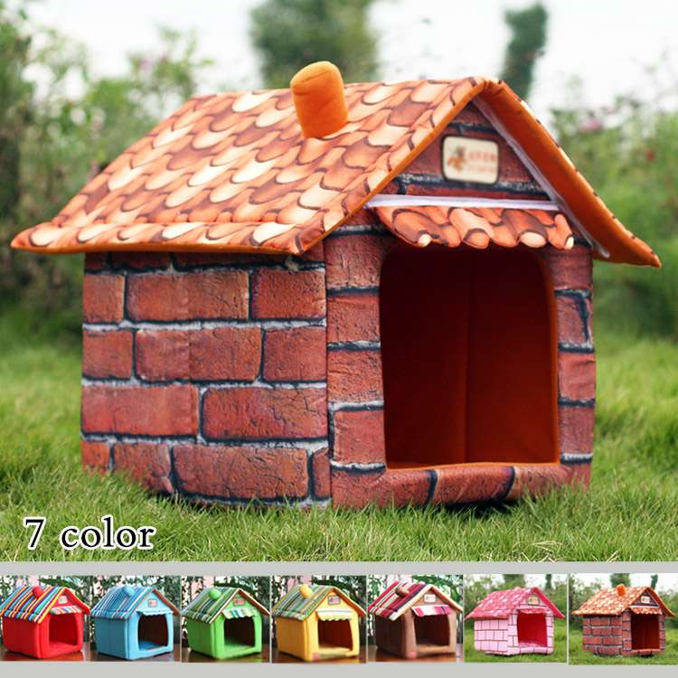屋根のマイホームベッド クッション ハウス ドーム ペットベット 犬のベッド 猫のベッド ドッグハウス