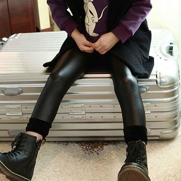 b8fa81df12e48 パンツ 女の子 ジュニア ストレッチ入り 合成皮革 ズボン タイト 長ズボン 厚地 キッズ 女児 ジュニア 冬