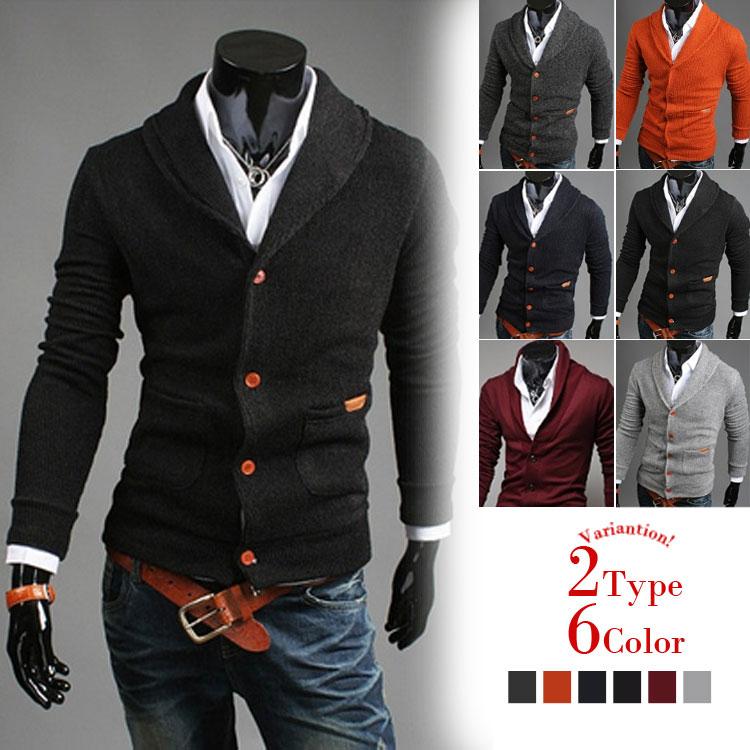 ニットアウター セーター ジップアップ 長袖 無地 メンズ テーラードジャケット メンズ ジャケット シンプル 韓国ファション 学院風 厚地