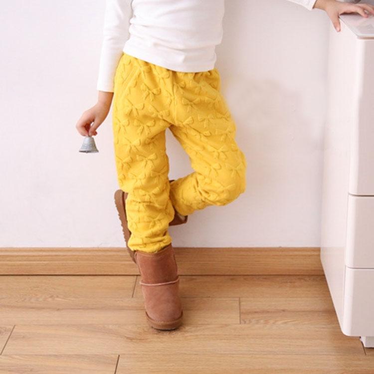 リボン ロングパンツ 女の子 キッズ ボトムス パンツ 厚手 ストレートパンツ 子供服 こども服 秋冬